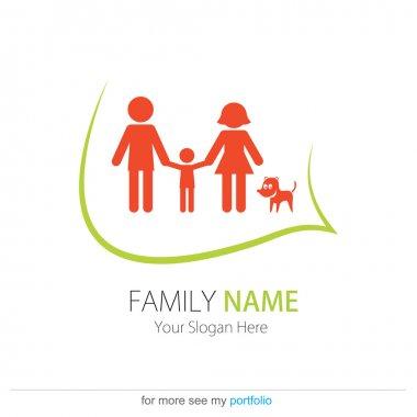 Company (Business) Logo Design, Vector, Heart, Peoples, Family