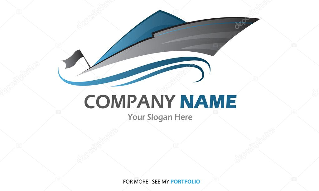 Compaby (Business) Name - Yacht,Sailboat - Logo,Vector,Symbol,Sign