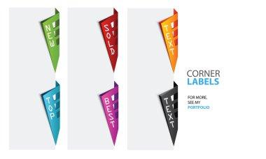 Corner labels, Vector, Top, New, Sold, Best