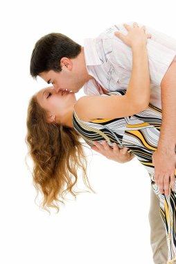 Embrace in dance