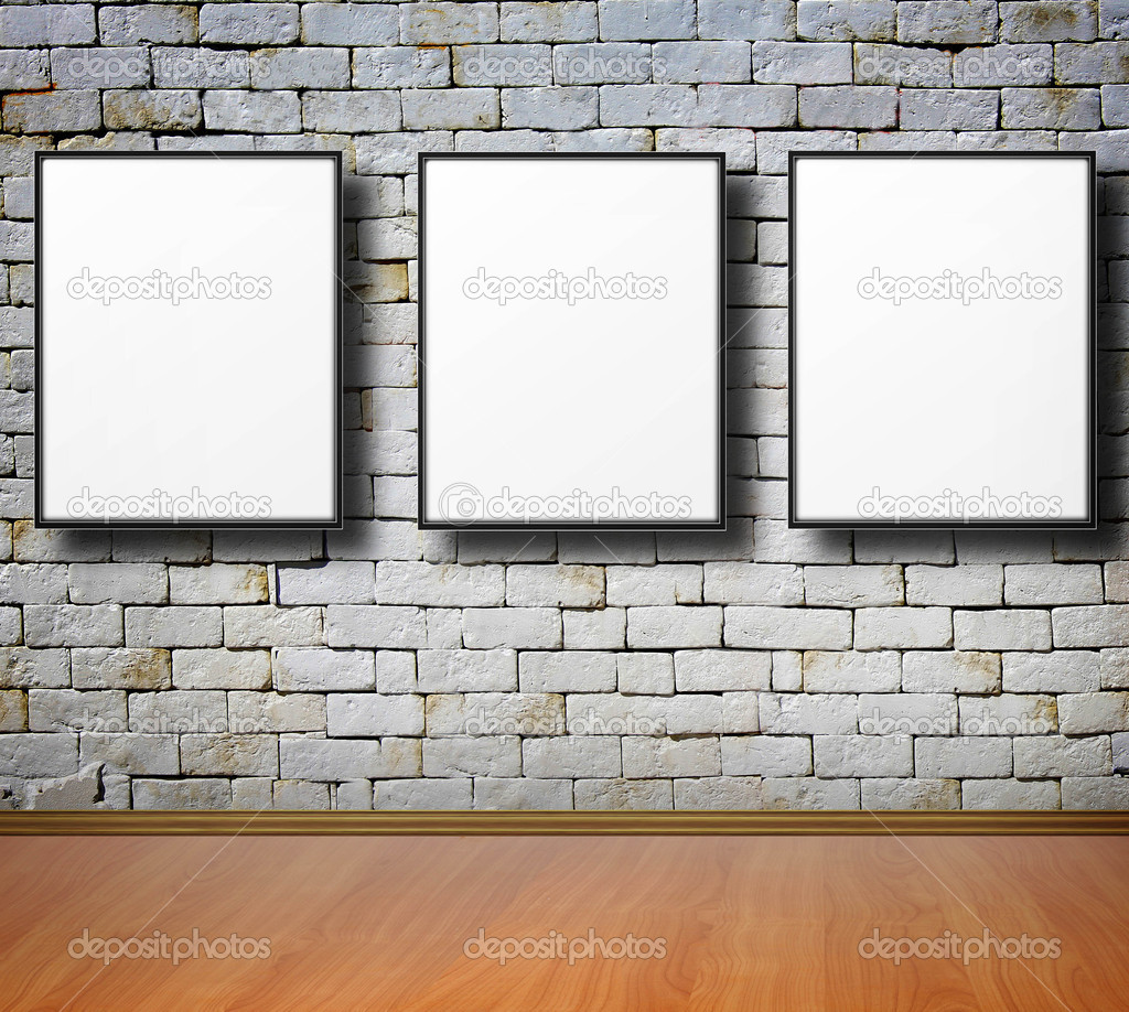 empty frames on wall stock photo 10754504