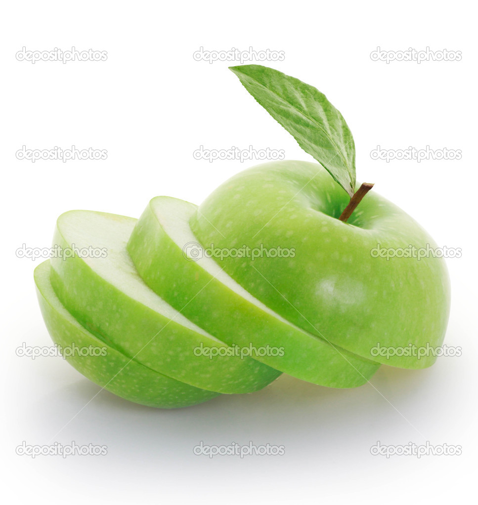 Green apple sliced i