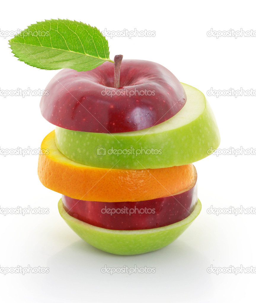 Mixed Fruit apple sliced