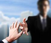 Fotografie pomoc ruku v podnikání
