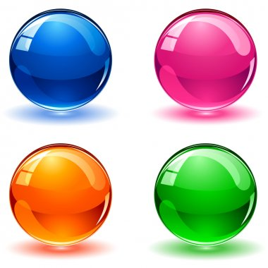 Multicolored balls