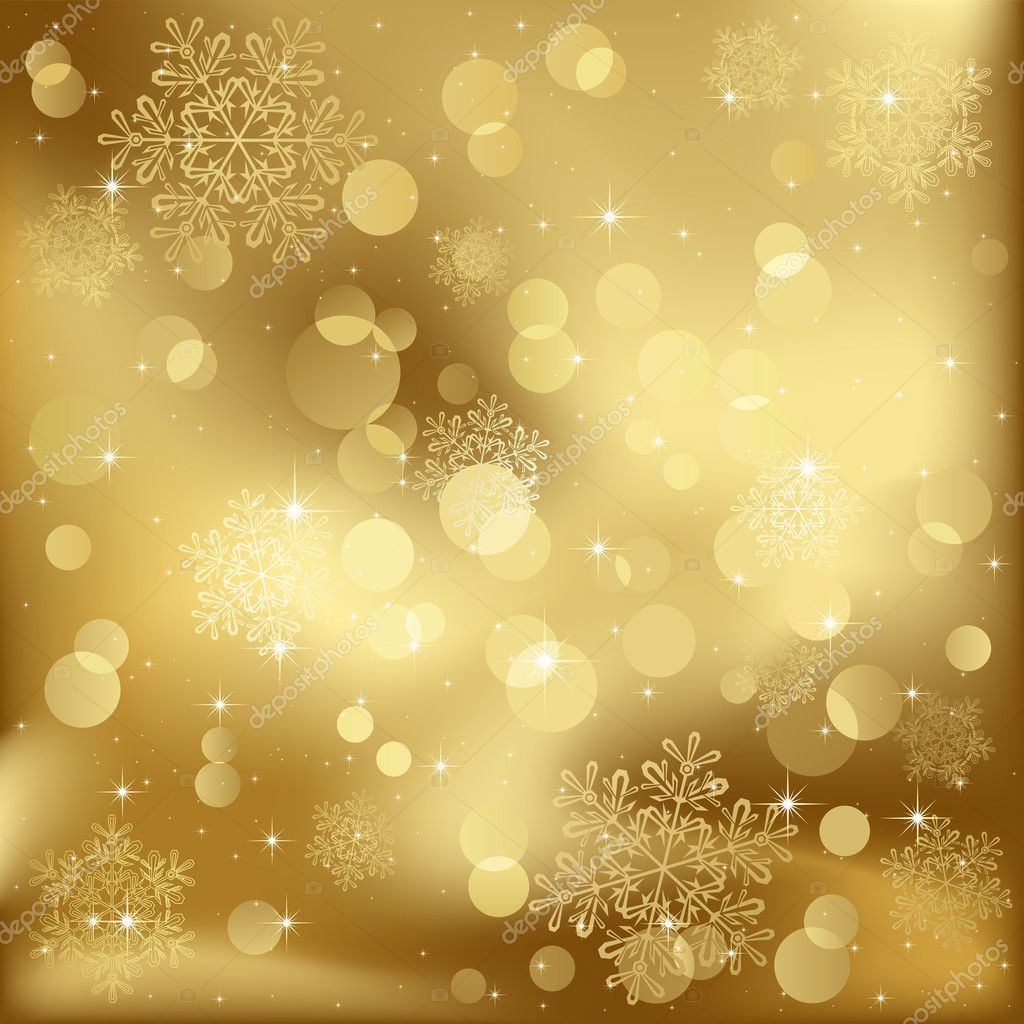 gold christmas snowflake wallpaper - photo #48