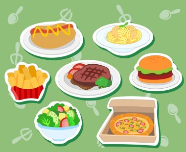 Cute food stickers01