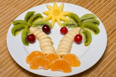 Creative fruit salad