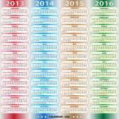 Kalendář - usa 2013-2016