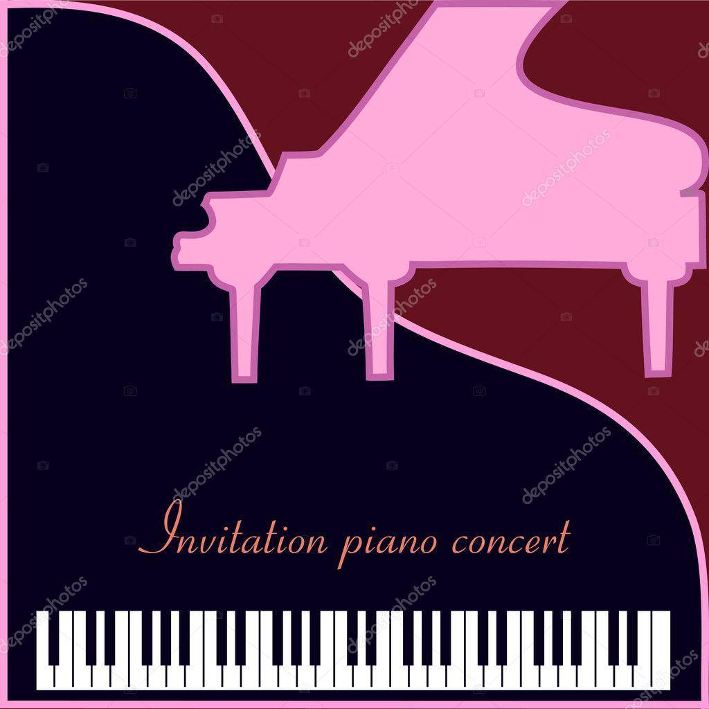 concierto de piano de invitación — Vector de stock © Sasa1867 #11563870