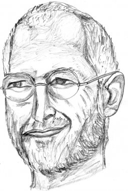 Steve Jobs Pencil Sketch