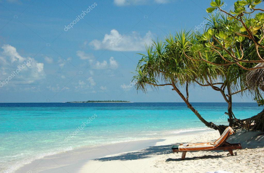 White sand beach at Maldives