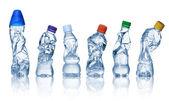 Fényképek Üres használt műanyag palackok