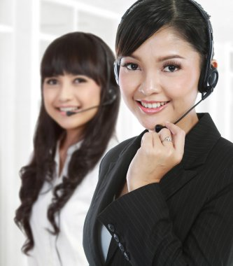 Portrait of a successful female call centre