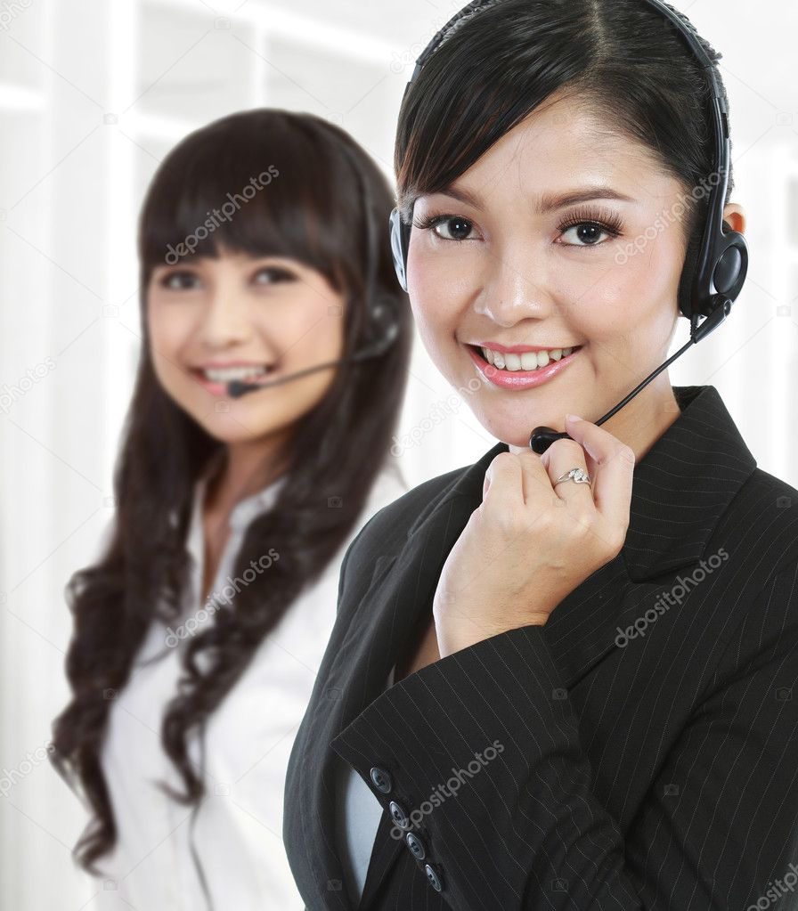 Portrait of a successful female call centre