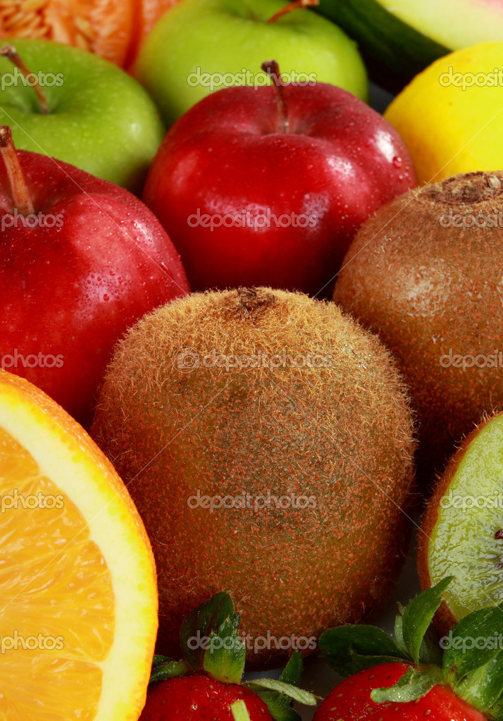Mix of Colorful fresh Fruits