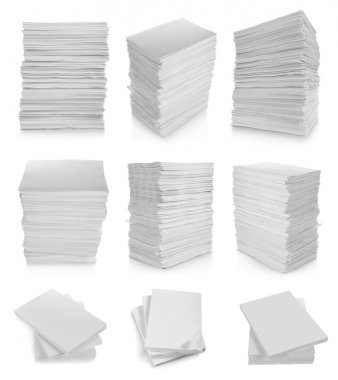 Collection of stack paper