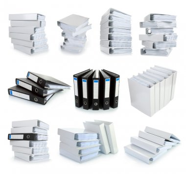 Collection stack of file Office binder