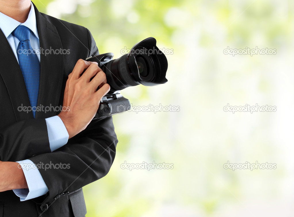 Photographer with dslr camera