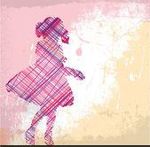 abstraktní skica dívky. vektorové ilustrace