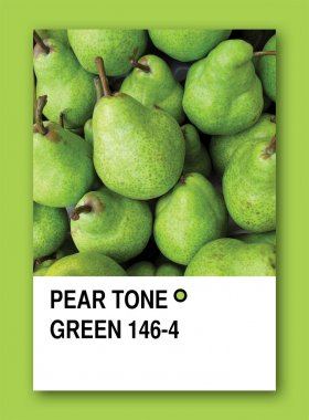 PEAR TONE GREEN. Color sample design