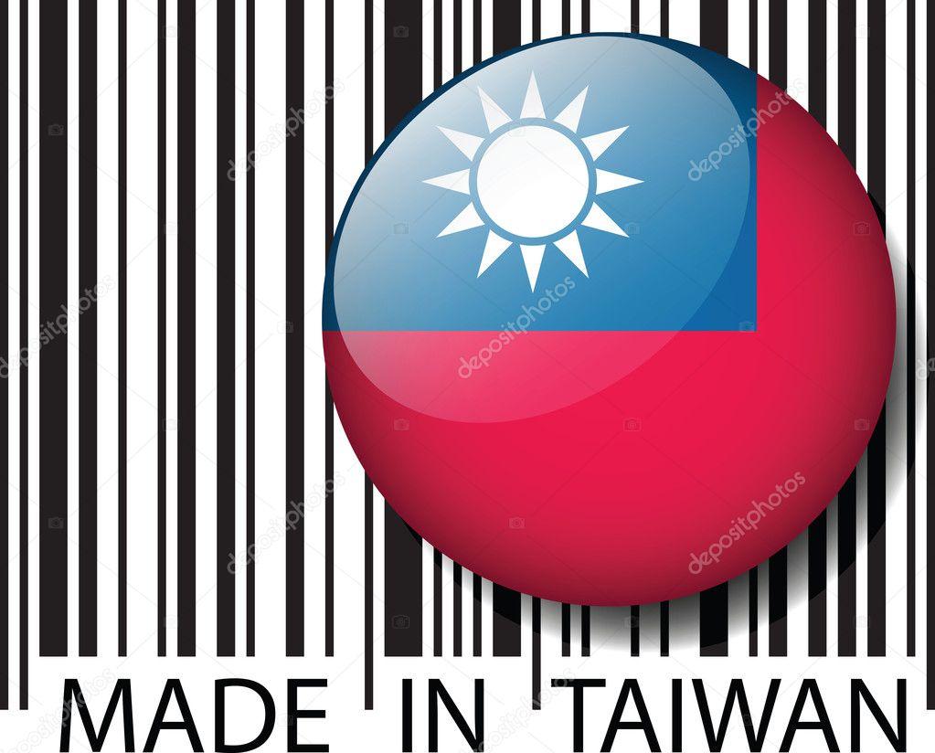 made in taiwan barcode vektor illustration stockvektor 11707524. Black Bedroom Furniture Sets. Home Design Ideas