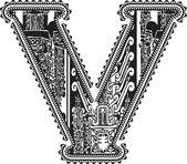 Fotografia antica lettera v. illustrazione vettoriale