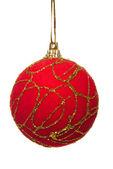 červená vánoční koule izolované