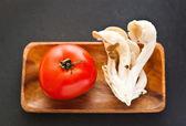 Fotografie Tomato and mushroom