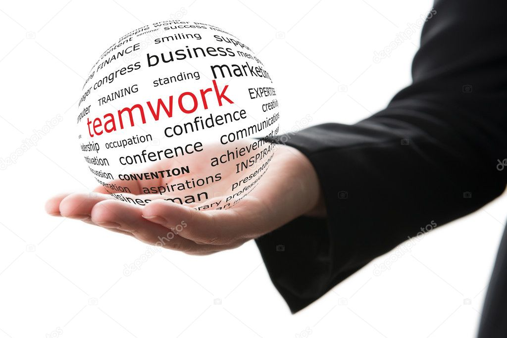 Concept of teamwork in business