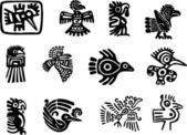 Fotografia glifo maya e messicana