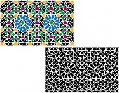 Colorful Islamic patterns