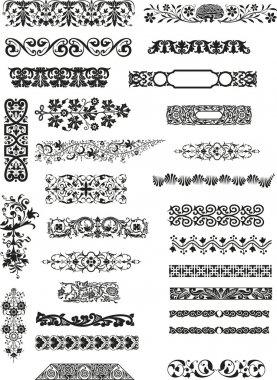 Various horizontal bars motifs and patterns