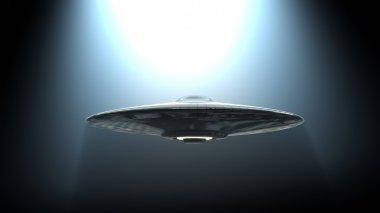 Flying saucer in light