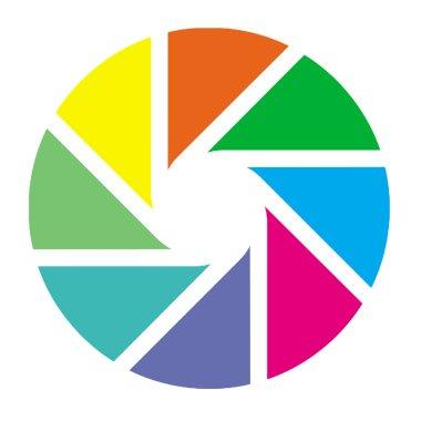 Colorful aperture blades