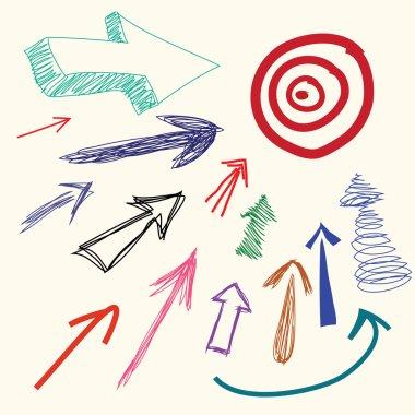 Hand drawing cartoon doodle arrow