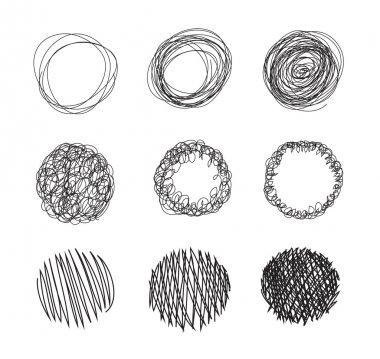 Pencil drawn circles bubbles