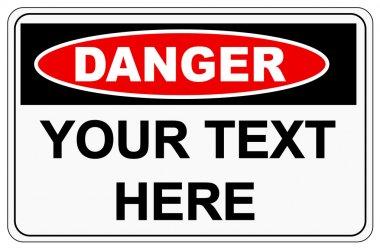 Danger sign label on white stock vector