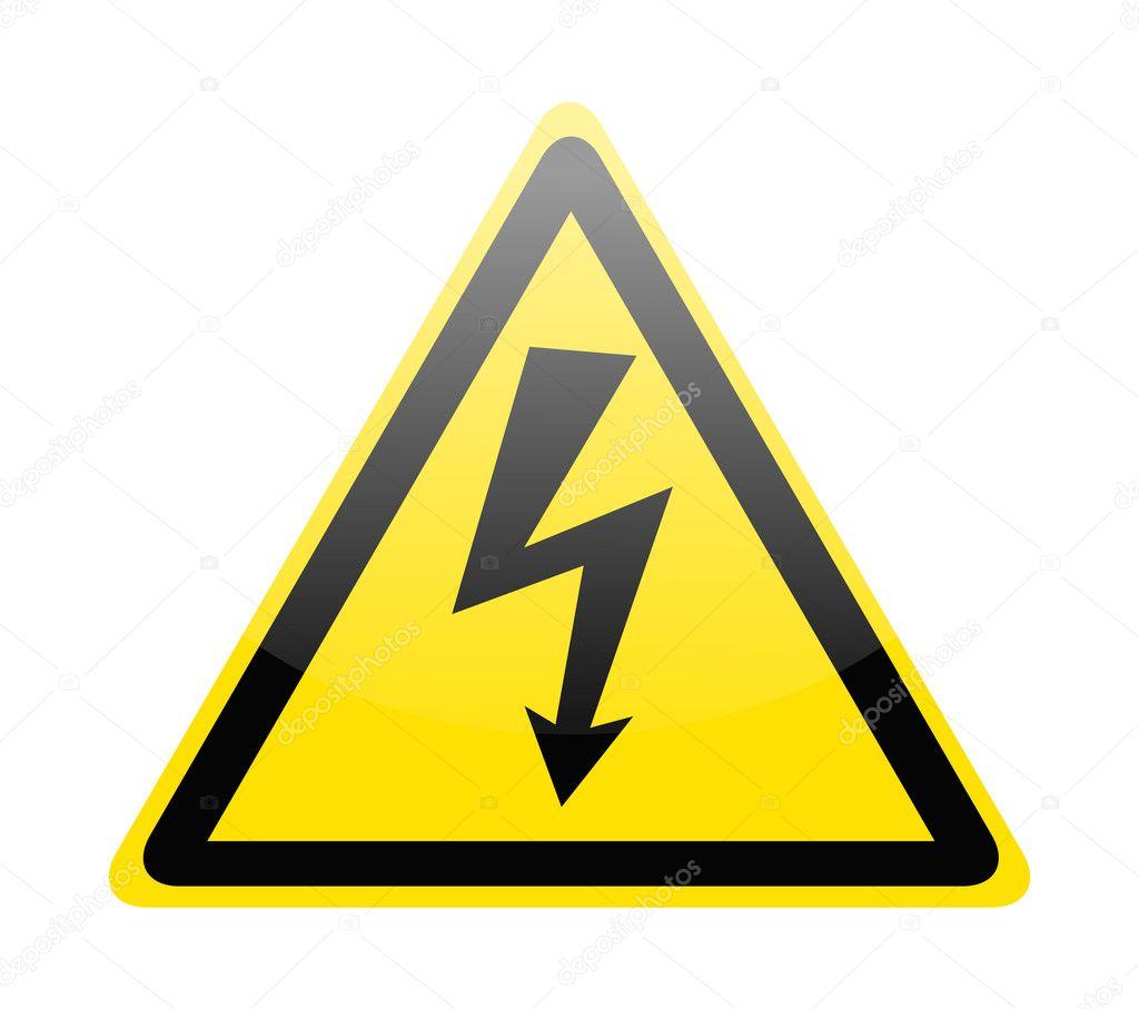 7d46989494 Vettore: simbolo alta tensione | segno del simbolo di pericolo alta ...