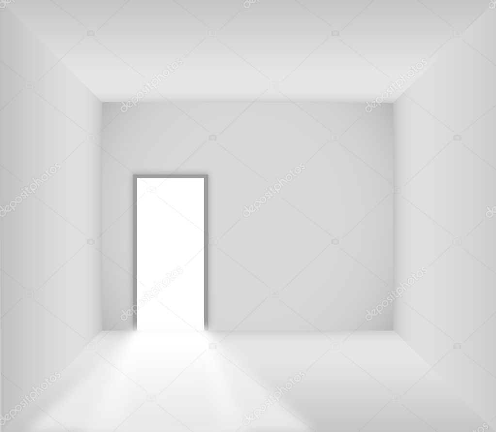 Blank room with opened door - Vector u2014 Vector by pockygallery  sc 1 st  Depositphotos & Blank room with opened door u2014 Stock Vector © pockygallery #11947311 pezcame.com