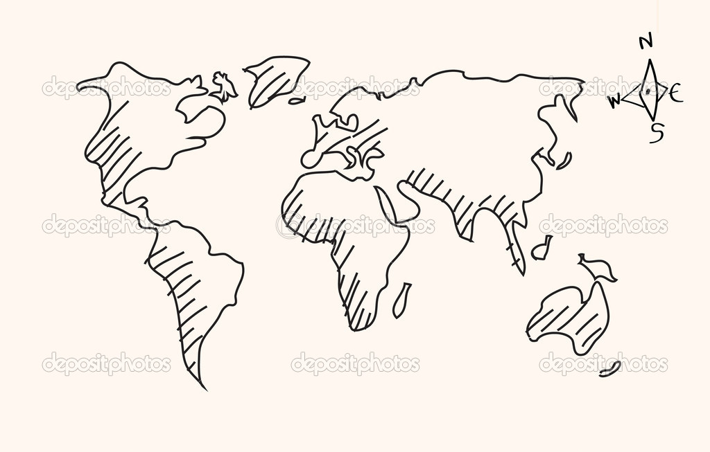 Hand drawn world map stock vector pockygallery 11947341 hand drawn world map stock vector gumiabroncs Choice Image