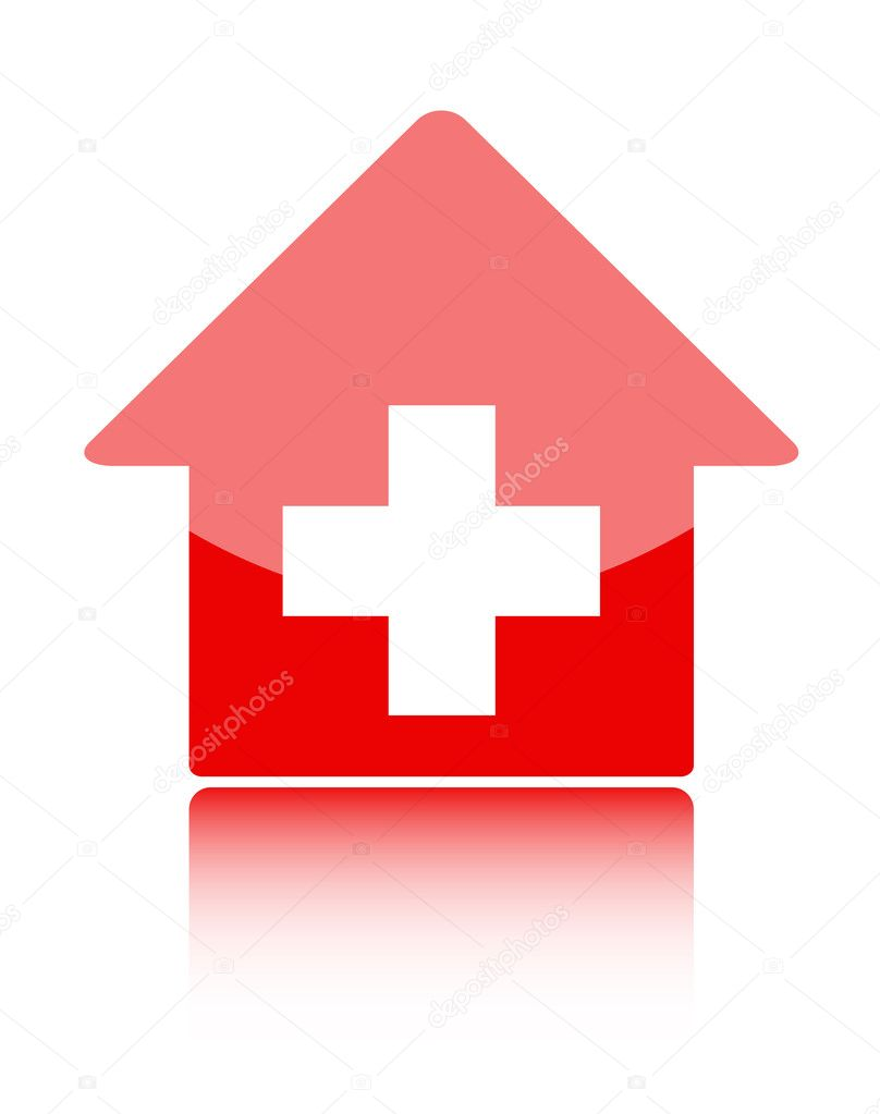 Medical icon with red hospital symbolor swiss home or swiss bank medical icon with red hospital symbolor swiss home or swiss bank stock vector buycottarizona Image collections