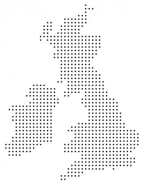 Dotted Great Britain map