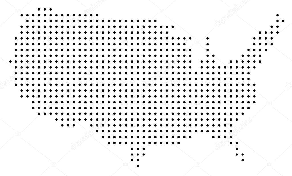 Dotted USA Map Stock Vector Pockygallery - Usa map vector