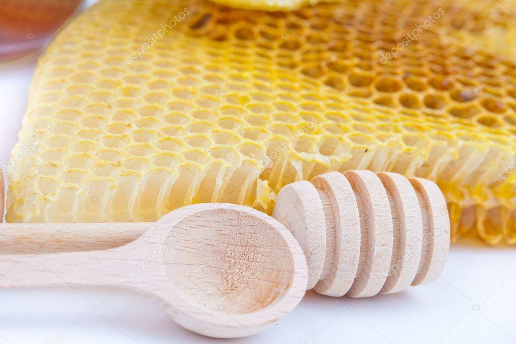 Honey comb and stick