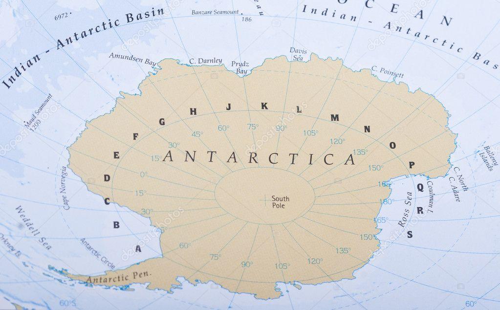 Antarctic map — Stock Photo © Danieloncarevic #10796473