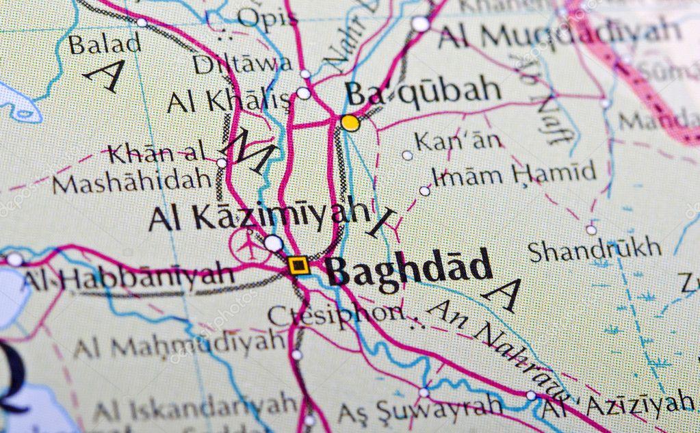 Baghdad map — Stock Photo © Danieloncarevic #10796479