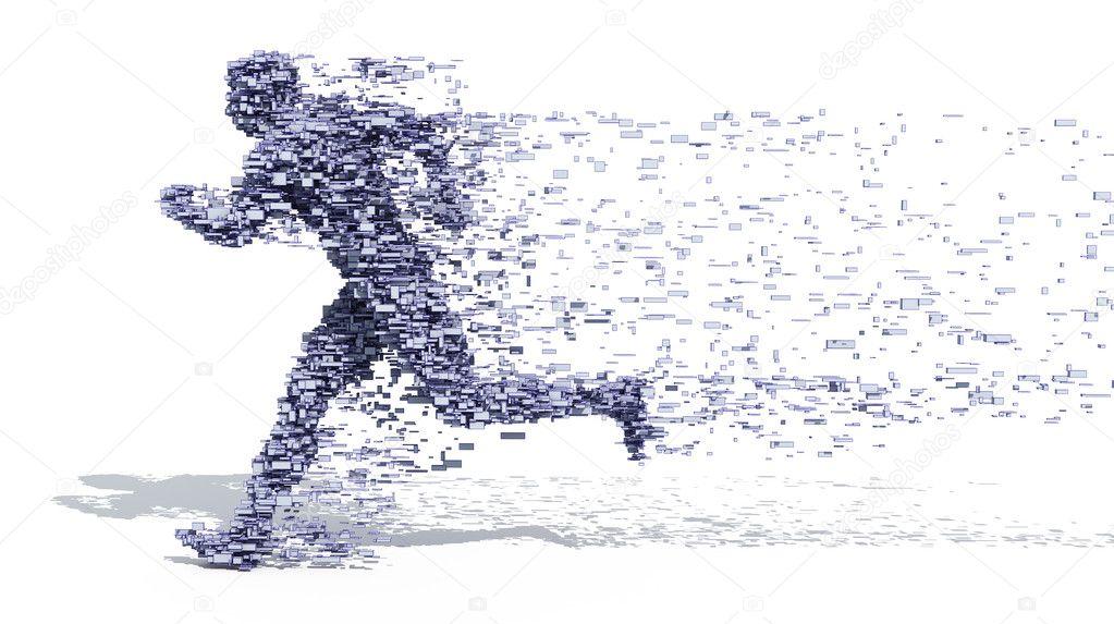 Running Man from blocks