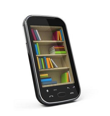 Smartphone with bookshelf
