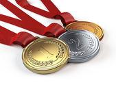 Arany, ezüst és bronz érmek